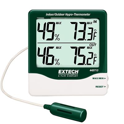 艾示科Extech 445713 - tp  大数字室内/室外Hygro-Thermometer