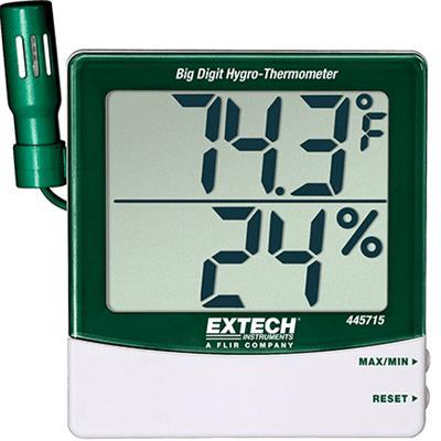 艾示科Extech 445715 大数字Hygro-Thermometer远程探测