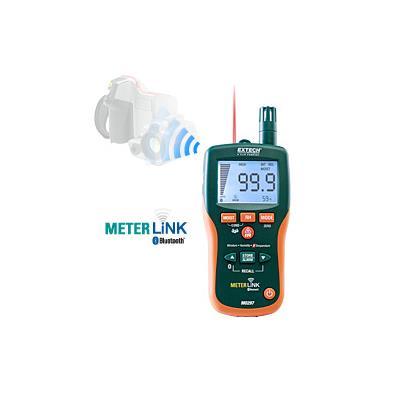 艾示科Extech MO297  Pinless水分与红外温度计和湿度计蓝牙METERLiNK™