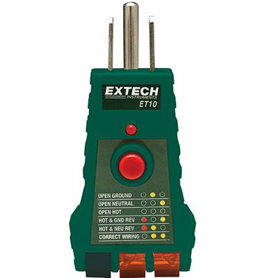 艾示科Extech ET10  GFCI插座测试器