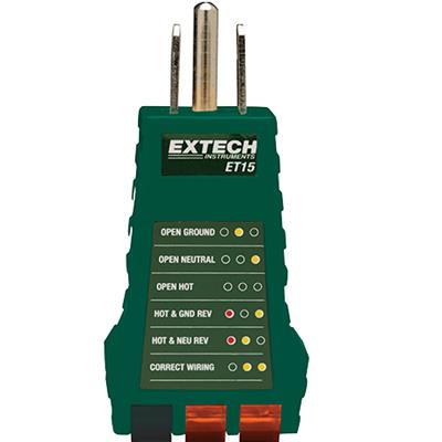 艾示科Extech ET15  插座测试器