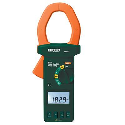艾示科Extech 382075  2000真有效值AC / DC三相钳形功率分析仪