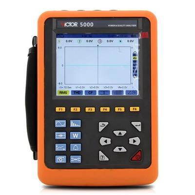 胜利仪器 VC5000+4个300F柔性线圈 电能质量分析仪三相电能表电力谐波测试仪功率表-VC5000【68mm】