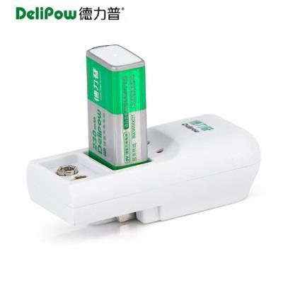 德力普 9V充电电池套装 9V充电电池 麦克风电池  1充1电