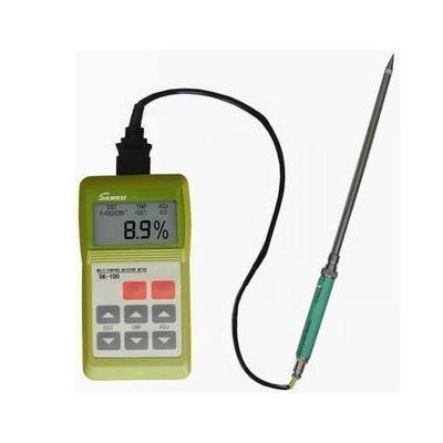 日本三酷SANKU SK-100木粉木屑水分测试仪、刨花锯末木纤维水份检测仪测定仪