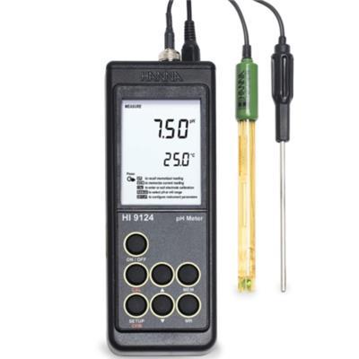 意大利哈纳 HI9124 便携式防水型pH/温度测定仪 现场pH检测仪