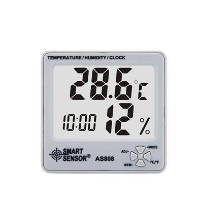 香港希玛AS808温度计家用室内婴儿房高精度电子温湿度计儿童闹钟