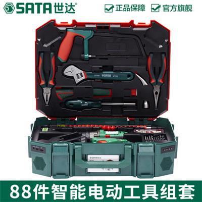 世达工具套装组合家用88件五金电工木工维修工具箱带锂电钻05152