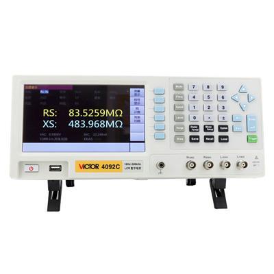胜利仪器VC4092C  LCR数字电桥测试仪 电子元器件电容电感电阻测量