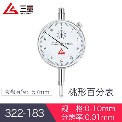 日本三量  322-183 0-10mm 桃形百分表
