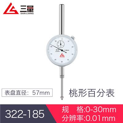 日本三量  322-185  0-30mm 桃形百分表
