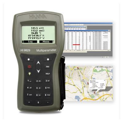 意大利哈纳(HANNA)  HI9829GT 高精度多参数【内置GPS、16项】水质分析测定仪