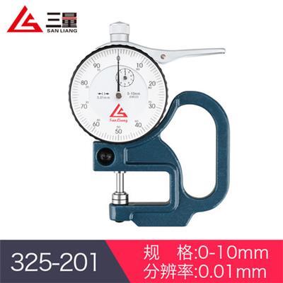 日本三量  325-201 0-10mm指针型 厚度测量仪