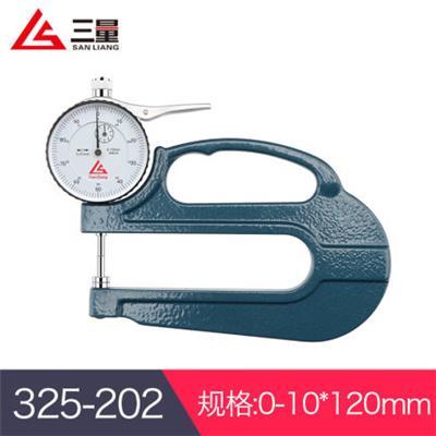 日本三量 325-202 0-10*120mm 平头厚度测量仪