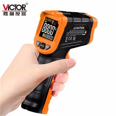 胜利仪器红外线测温仪 工业高精度测温枪食品水温油温温度 VC304C