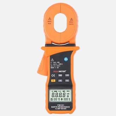 PEAKMETER华谊MS2301钳形接地电阻测试仪高精度低电阻接地摇表