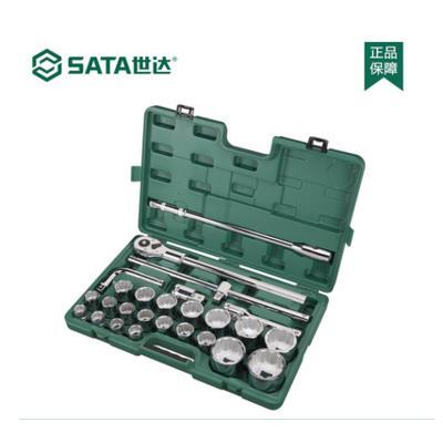 世达五金工具26件19MM系列   09016 重型套筒组套机修汽修工具