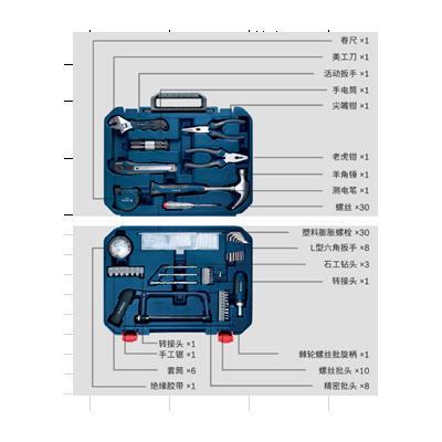 博世BOSCH  108件套装钻头(中国蓝)